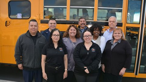 Pam McDonald, director of transportation for Orange (Calif.) Unified School District, shown...