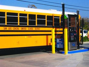 Natural gas provider Clean Energy serves California's San Luis Coastal Unified School District. Jim Harger, chief marketing officer for the company, says that operations should gauge cost savings when considering what type of alternative fuel to use.