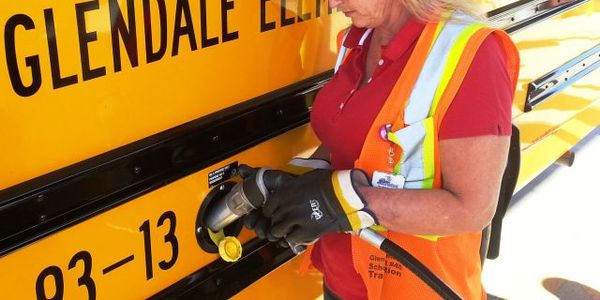 Bus drivers at Glendale (Ariz.) Elementary School District #40 are provided with protective...
