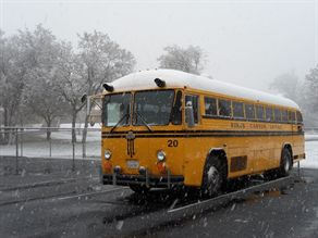 Under the CARB's Truck and Bus Regulation, older school buses — like this one operated by Kings Canyon USD — must be retrofitted with emissions-control technology.