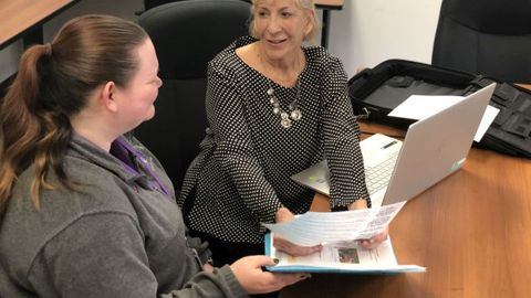 After retiring as a transportation director and becoming a consultant, Judith Clarke (right)...