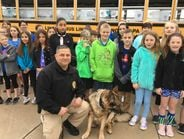 Students at Conewago Valley Intermediate School in New Oxford, Penn., decorated one of their...