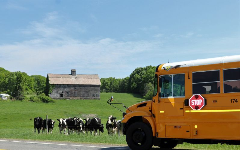 Winner: Chuck Barss of Schuylerville (N.Y.) Central Schools shared a shot of a peaceful pastoral...