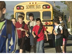 Shenandoah County Public Schools unloads just three buses at a time at its largest  campus to minimize the number of students and maximize supervision.