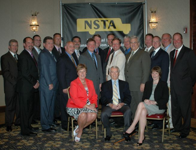 NSTA officers and committee members pose for a photo. The association will convene for next...