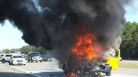 A federal study found that school bus fires in the U.S. occur slightly more than daily. File...