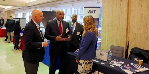 "SEPTA GM Jeffrey Knueppel met with attendees at the spring DBE ""Meet the Primes"" event. Photo: SEPTA"