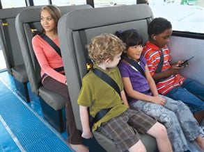 district moves to all belted bus seating safety school bus fleet