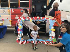"""The bus was on display at the district's April 13 """"Experience Summer in SAISD"""" event, which..."""