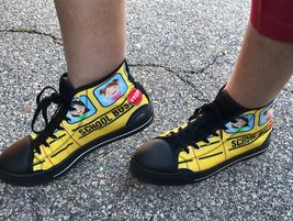 One Troup County (Ga.) School System bus driver showed off her snazzy school bus shoes in honor...