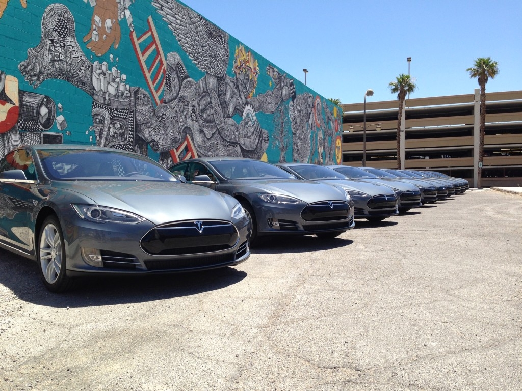 Las Vegas start-up with fleet of Teslas taking on Uber, public transit