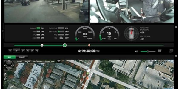 A driving event captured by SmartDrive has been scored and prioritized.