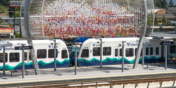 Trains on the 7.8-mile light rail extension from Angle Lake in SeaTac to Federal Way will serve...