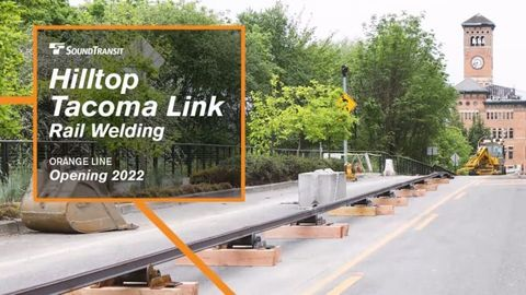 [Video] Sound Transit's Hilltop Link Rail Welding