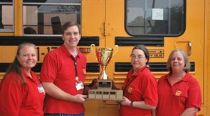 Clayton County Public Schools had two teams of drivers place in the top five at Georgia's special-needs roadeo. From left: Paulette Raper, David O'Keeffe, Jacquelyn Turner and Angie Dorris.