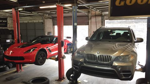 High end vehicles are the norm at Sports Car Tire in Wilmington, Del. The business offers tire...