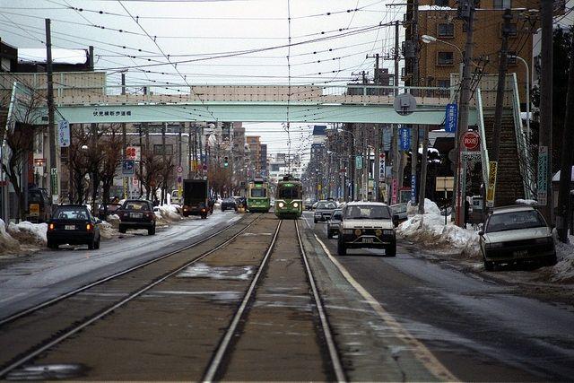 Staring down a streetcar - Sapporo, Japan - Stuart Rankin - 2014 - Flickr
