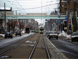 Staring down a streetcar - Sapporo, Japan - Stuart Rankin - 2014 - Flickr