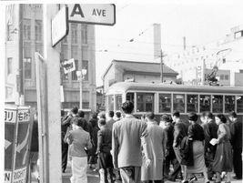 Streetcar in Tokyo near Shinbashi Station, circa 1955 - Rob Ketcherside - Flickr
