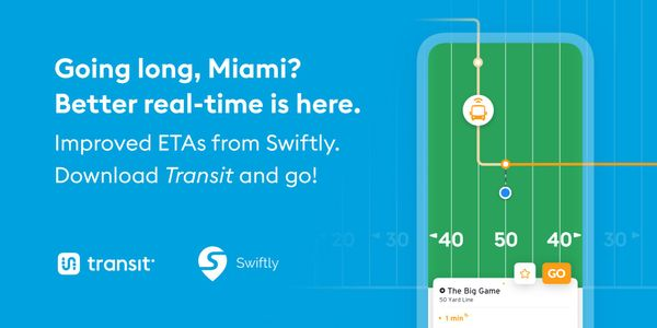 Transit, Swiftly launch real-time info app for Miami-Dade
