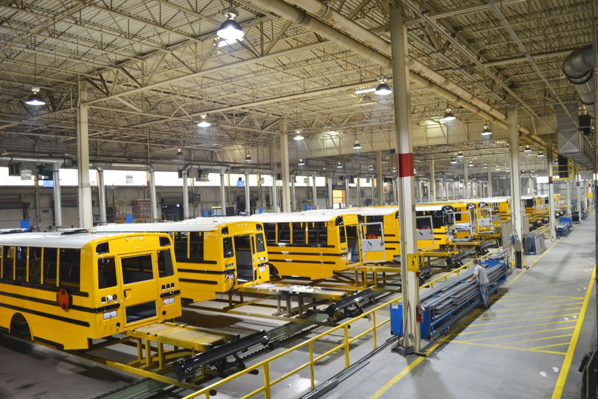 The OEM decided how it wanted to build its buses and then built the 275,000 square-foot plant in...
