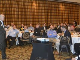 Mark Aesch set the tone for the event by giving suppliers and operators the chance to discuss...
