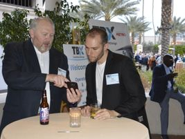 Not only are there face-to-face meetings, but also plenty of opportunities to network at TBX.