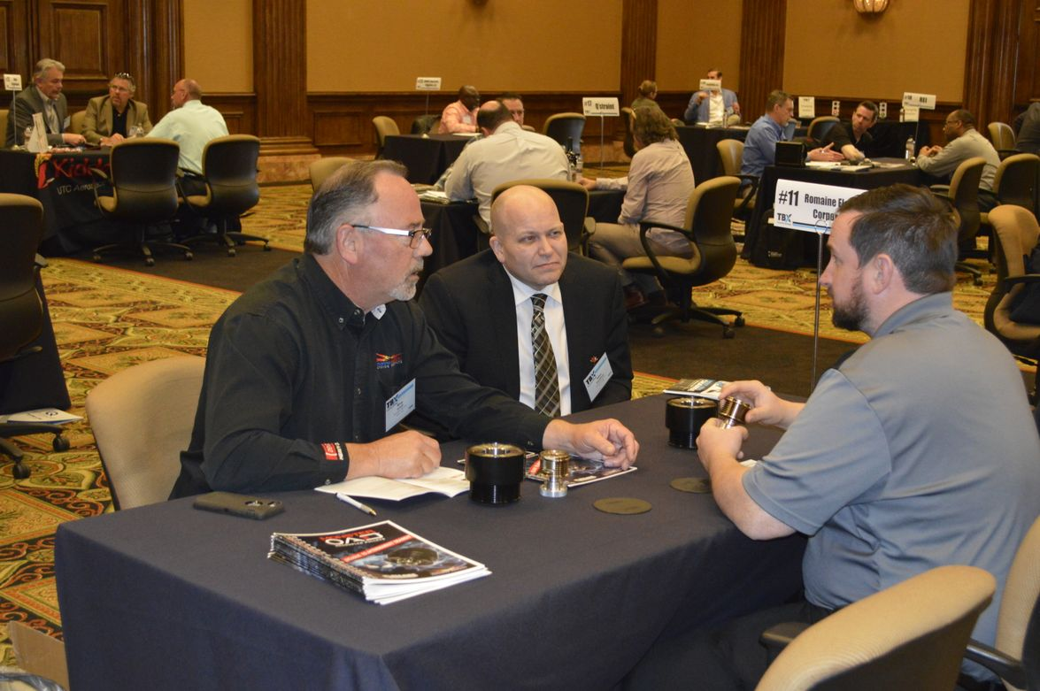 In general, two company reps are available to discuss their products with transit agency reps...