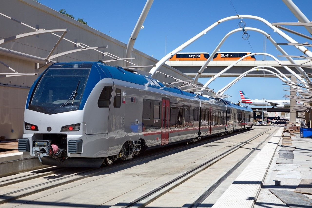 TEXRail tests Stadler trains at DFW Airport