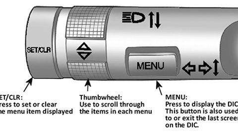 Figure 1: Identifying driver information center (DIC) buttons.