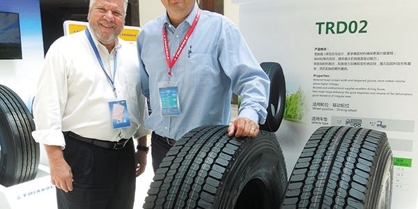 Triangle Tire USA Chairman Manny Cicero, left, and Tredroc Tire Services Inc. CEO John Boynton...