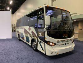 TEMSA then re-wrapped the vehicle to present it to Philadelphia's David Thomas Trailways.