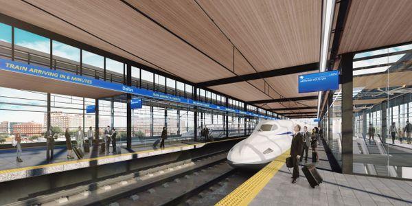 Conceptual rendering of Texas Central Railway's high-speed rail system. Texas Central Railway