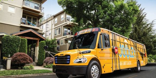Highland Electric Transportation Inc. selected a Saf-T-Liner C2 Jouley electric school bus,...
