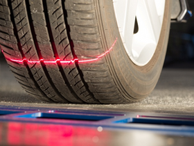 Tire Profiles' Drive-Over Reader Scans Tread Depth