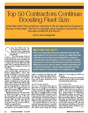 Top 50 Contractor Fleets of 2016