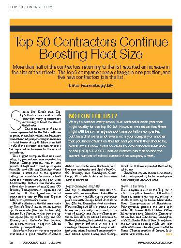 Top 50 Contractor Fleets of 2016