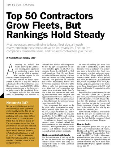 Top 50 Contractor Fleets of 2017