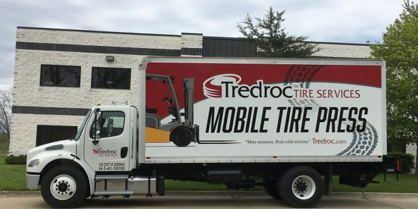 No. 13-ranked Tredroc Tire Services expanded into the mobile industrial tire press business with...