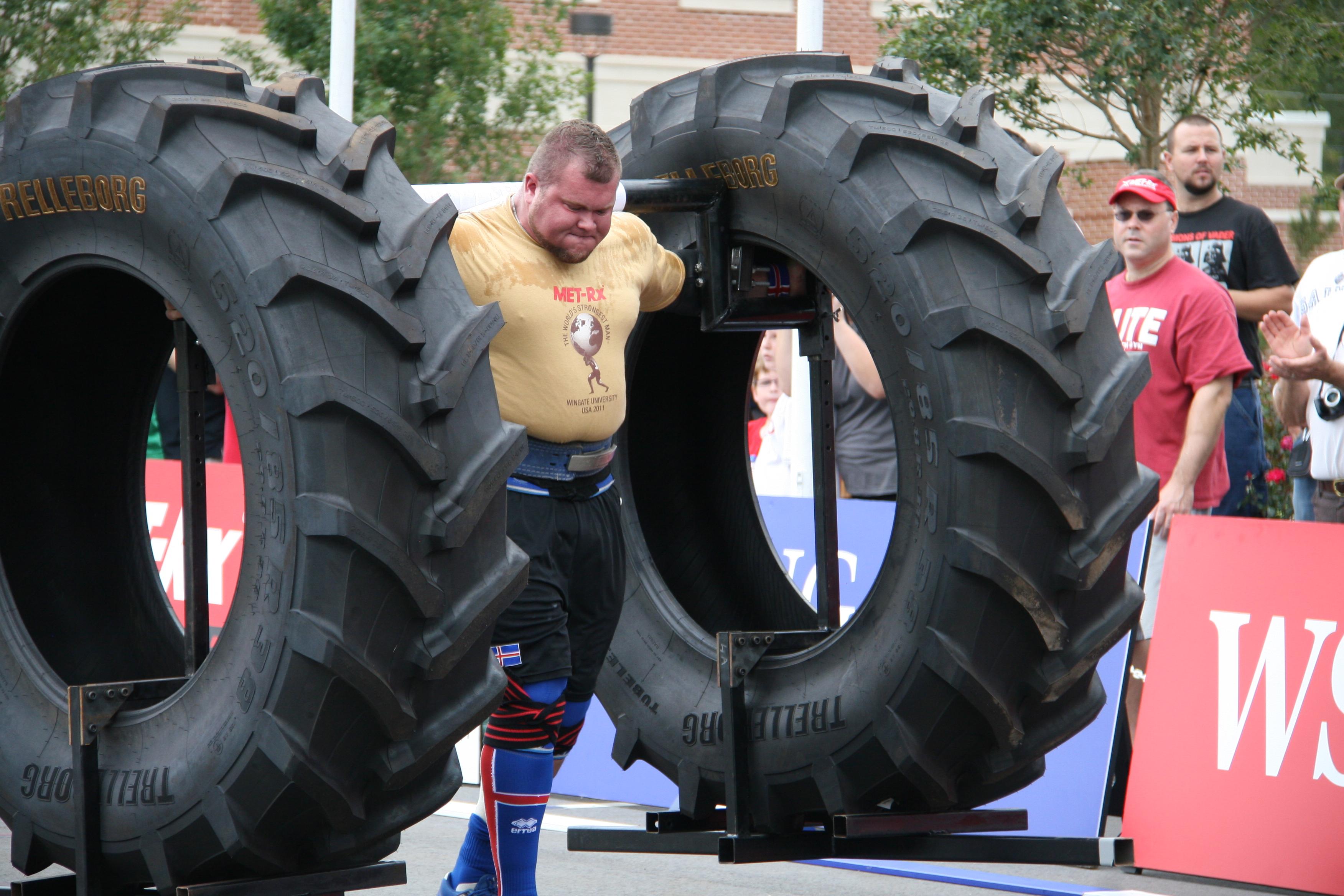 World's strongest men will lift Trelleborg tires