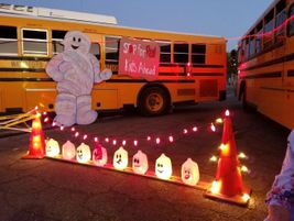 "At a community ""Trunk or Treat"" event on Halloween, Waterford (Calif.) Unified School District..."