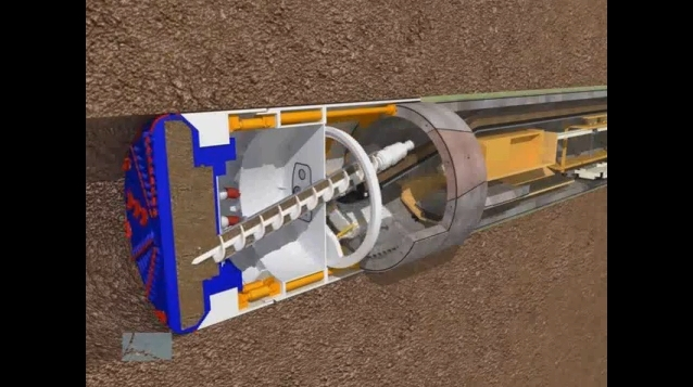 How a Tunnel-Boring Machine Drills Underground