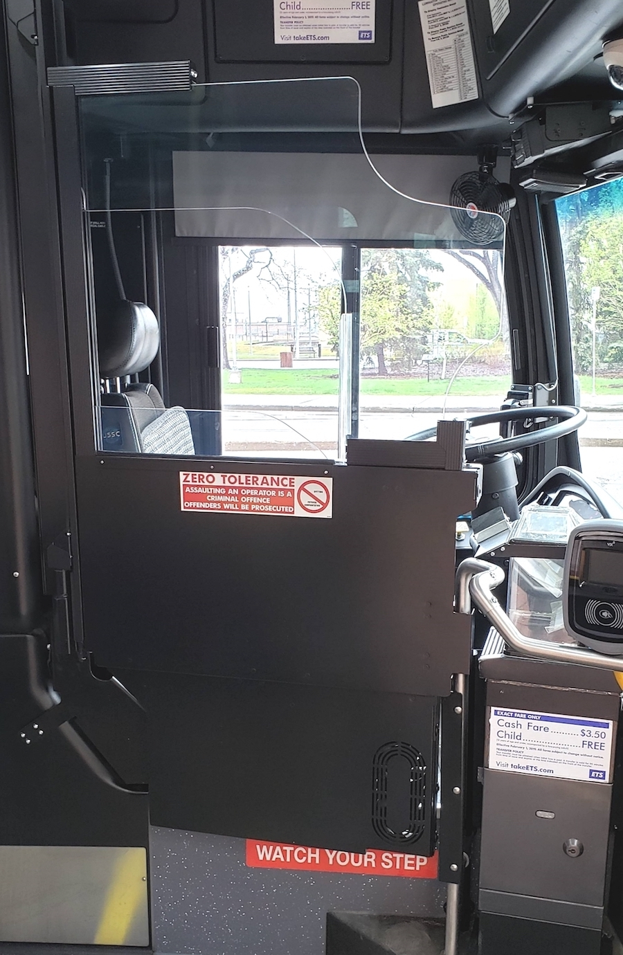 ETS installs Vapor operator safety doors on bus fleet