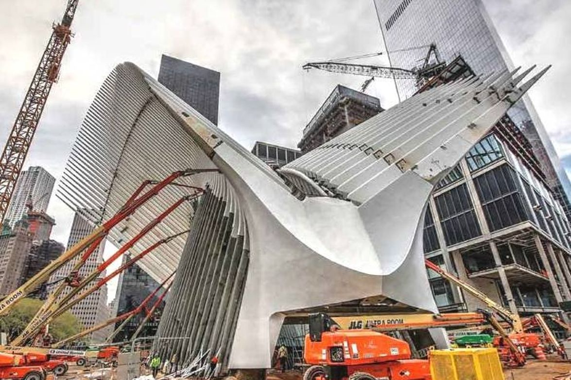 Over 12,500 tons of specially designed structural steel has been used to construct the WTC...