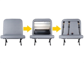 The SafeGuard XChange line from IMMI will let school bus operations buy standard seats initially and then exchange seating modules to add or configure belts in the future.