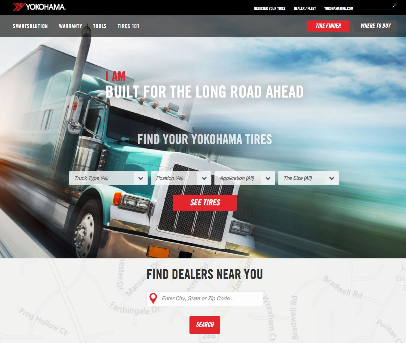 Yokohama launches truck tire website