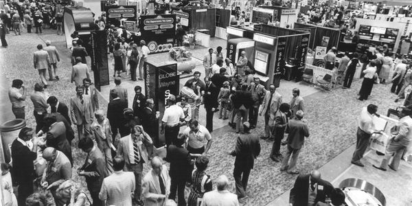 Except for the color, the trade show floor at the 1979 NTDRA convention doesn't look too...