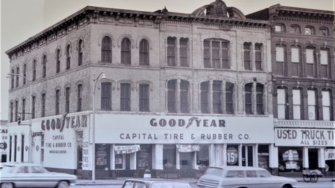 This is Capital Tire's facility as it looked in 1960. Why was the business named Capital Tire?...