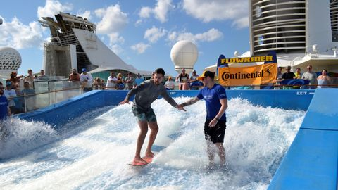 Continental dealers and their guests enjoyed water sports aboard a cruise ship as part of their...