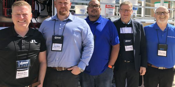 Fountain Tire was well-represented during the OTR Tire Conference. From left to right: Nelson...